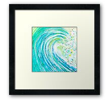 The Wave, Surf's Up! Framed Print