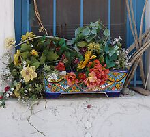 Flowers on the Ledge by Lucinda Walter