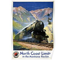 North Coast Limited Vintage Travel Poster Restored Poster
