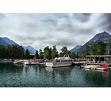 Marina, Waterton Lakes NP, Alberta, Canada Photographic Print