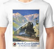 North Coast Limited Vintage Travel Poster Restored Unisex T-Shirt