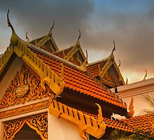 Roof dressing of Buddhist monastary by Bigart32