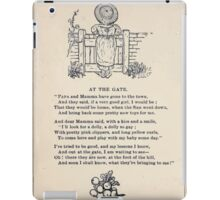 Miniature Under the Window Pictures & Rhymes for Children Kate Greenaway 1880 0036 At the Gate iPad Case/Skin
