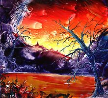 Red Hot Tree Spirit by Caroline Senior