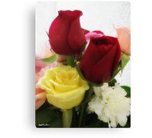 Mixed Cut Roses 1 Canvas Print