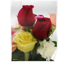 Mixed Cut Roses 1 Poster