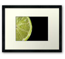 Lime Fizz Framed Print