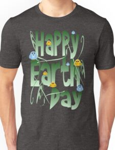 Happy Earth Day with Birds Unisex T-Shirt