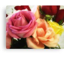 Mixed Cut Roses 3 Canvas Print