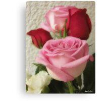 Mixed Cut Roses 6 Canvas Print