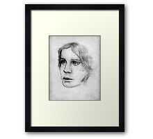 portrait ofa young lady Framed Print
