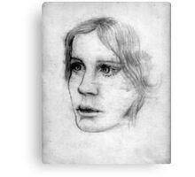 portrait ofa young lady Canvas Print