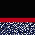 Modern Polka Dots Black Red Navy Blue by Melissa Park