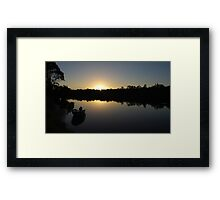 A new day at Worrell creek Framed Print