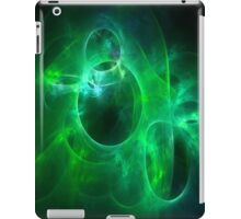 Green and Aqua Blue Circles 1 iPad Case/Skin