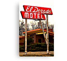 El Dorado Motel Canvas Print