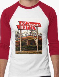 El Dorado Motel T-Shirt Men's Baseball ¾ T-Shirt