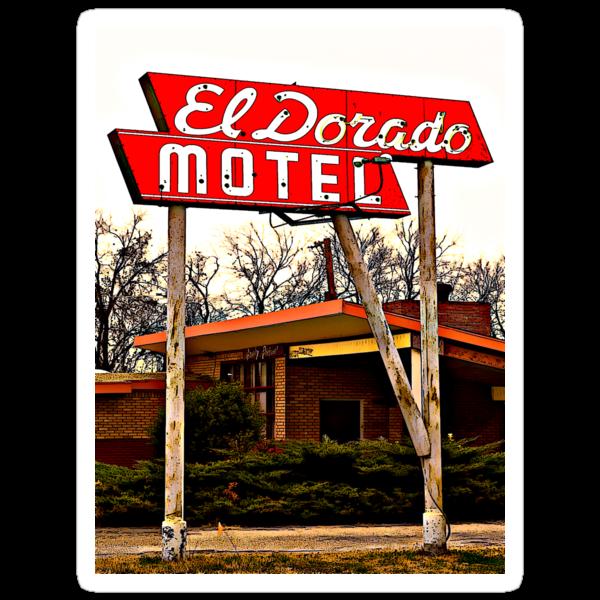 El Dorado Motel T-Shirt by Robert Howington