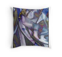 Face behind veil Throw Pillow