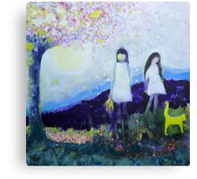 Two Girls In White Dresses Canvas Print