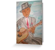 Blues Comes From The Heart Greeting Card
