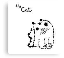 Ink splashes cat Canvas Print