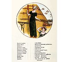 Language of Flowers Kate Greenaway 1884 0028 Descriptions of Specific Flower Significations Photographic Print