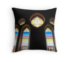 Stained Glass Windows - 5   ^ Throw Pillow