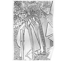 coat rack sketch effect  Poster