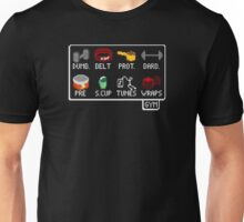 The Lifter's Inventory - Gym Equipment Pixel Art Unisex T-Shirt