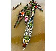 Fruits and Vegetables seller - Lokbaintan, Indonesia Photographic Print