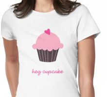 Hey Cupcake Womens Fitted T-Shirt