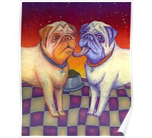 pug kiss Poster