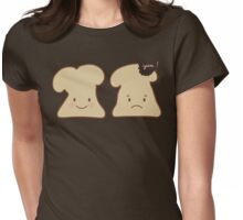 Yummy Kawaii Toast Womens Fitted T-Shirt