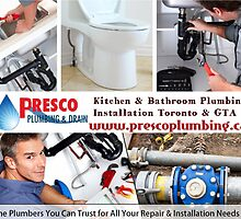 Kitchen & Bathroom Plumbing Installation Toronto & GTA by Presco Plumbing