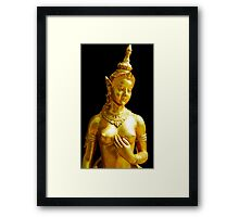 Golden Bust Framed Print