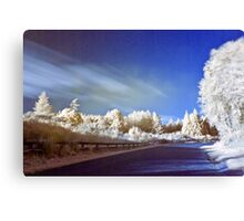 Geyser road in infrared Canvas Print