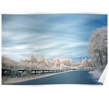 Geyser road in infrared 2 Poster