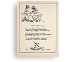 Miniature Under the Window Pictures & Rhymes for Children Kate Greenaway 1880 0042 The Garden Wall Canvas Print