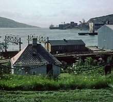Narvik Wharf Norway 198406190003m  by Fred Mitchell
