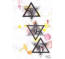 Patterned Six-Point Stars Photographic Print
