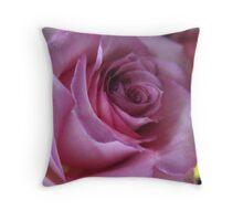 Shadowed Mauve Rose Throw Pillow