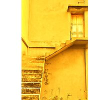 Take the yellow stairs up and it's the yellow door on your left...you can't miss it!  Photographic Print