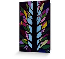 Stain Glassed Tree Greeting Card