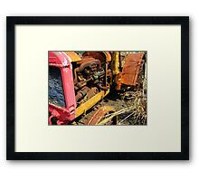 Rusty Tractor Framed Print