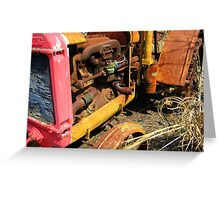 Rusty Tractor Greeting Card