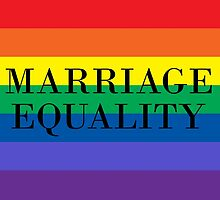 Marriage Equality by keepcalmart