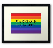 Marriage Equality Framed Print
