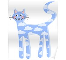 cat clouds Poster