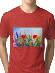 spring  garden Tri-blend T-Shirt